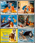 """Movie Posters:Animation, Lady and the Tramp (Buena Vista, 1955). Color Photo Set of 12 (8"""" X 10""""). Animation.. ... (Total: 12 Items)"""