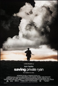 "Saving Private Ryan (Paramount, 1998). One Sheet (27"" X 40"") DS Cloud Style. War"