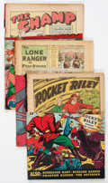 Golden Age (1938-1955):Miscellaneous, Golden Age Miscellaneous Remaindered Comics Group of 6 (Various Publishers, 1940s) Condition: Average PR.... (Total: 6 Comic Books)