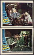 """Movie Posters:Horror, Son of Dracula (Universal, 1943/Realart, R-1948). Trimmed Lobby Cards (2) (approx. 11"""" X 13.75"""") & Photos (2) (8"""" X 10""""). Ho... (Total: 5 Items)"""