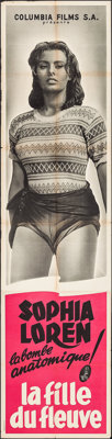 """Woman of the River (Columbia S.A., 1955). French Pantalon (23.5"""" X 94.5""""). Foreign"""