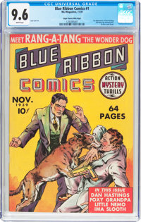 Blue Ribbon Comics #1 Mile High Pedigree (MLJ, 1939) CGC NM+ 9.6 White pages