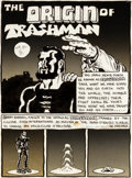 "Original Comic Art:Panel Pages, Spain Rodriguez Subvert #1 Title Page 1 ""Origin of Trashman""Original Art (Rip Off Press, 1970)...."