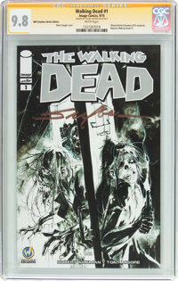 The Walking Dead #1 Wizard World Columbus Sketch Edition - Signature Series (Image, 2015) CGC NM/MT 9.8 White pages