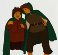 Animation Art:Production Cel, The Lord of the Rings Sam and Frodo Production Cel (Ralph Bakshi, 1978). ...