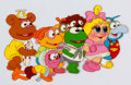 Animation Art:Production Cel, Muppet Babies Group Production Cel (Jim Henson Associates,1984)....