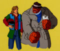 Animation Art:Production Cel, The Incredible Hulk Rick Jones and The Thing Production CelSetup (Marvel Films, 1995).... (Total: 2 )