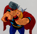 Animation Art:Production Cel, The Incredible Hulk Thor Production Cel Setup (Marvel Films,1995).... (Total: 4 )