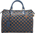 "Luxury Accessories:Bags, Louis Vuitton Blue Damier Paillettes Canvas Speedy 30 Bag.Excellent to Pristine Condition. 12.5"" Width x 8.5""Height ..."