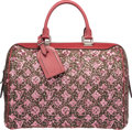 Luxury Accessories:Accessories, Louis Vuitton Limited Edition Red Leather & Wool Monogram Sunshine Express Speedy 30 Bag. Excellent to Pristine Condition...