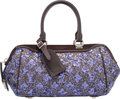 """Luxury Accessories:Bags, Louis Vuitton Limited Edition Purple Leather & Wool MonogramSunshine Express Baby Bag. Pristine Condition. 13"""" Width..."""