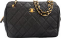 """Luxury Accessories:Bags, Chanel Black Quilted Caviar Leather Shoulder Bag. Very Good toExcellent Condition. 11"""" Width x 8"""" Height x 3"""" Depth..."""