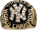Baseball Collectibles:Others, 1977 New York Yankees World Series Championship Ring Presented to Pitcher Ed Figueroa....