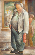 Fine Art - Painting, American:Modern  (1900 1949)  , Iver Rose (American, 1899-1972). Candy Store. Oil on paper.24 x 16 inches (61.0 x 40.6 cm) (sight). Signed lower right:...
