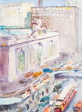 Fine Art - Painting, American:Modern  (1900 1949)  , Francis Vandeveer Kughler (American, 1901-2001). Grand CentralStation, New York, 1931. Watercolor on paper. 14-1/2 x 10...
