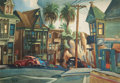 Prints, Edward Arnold Reep (American, 1918-2013). California Street Scene, 1946. Color Poster. 13-1/2 x 19 inches (34.3 x 48.3 c...