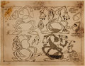 animation art:Model Sheet, Cobweb Motel and Joik Woofenpoof Studio Model Sheet Group of2 (Fleischer Studios, 1936)....