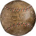 Baseball Collectibles:Balls, 1918 Boston Red Sox Team Signed Baseball with World Series Game Use Attribution....