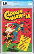 Golden Age (1938-1955):Superhero, Captain Marvel Jr. #65 (Fawcett Publications, 1948) CGC VF/NM 9.0 Off-white to white pages....