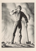 Fine Art - Work on Paper:Print, Rockwell Kent (American, 1882-1971). Fire!, 1948.Lithograph. 13-5/8 x 10 inches (34.6 x 25.4 cm) (image). Ed. 100.Sign...