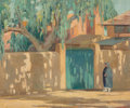 Fine Art - Painting, American:Modern  (1900 1949)  , Linley Munson Tonkin (American, 1877-1932). Shaded Walk. Oilon board. 19-1/2 x 23-1/2 inches (49.5 x 59.7 cm). Signed l...
