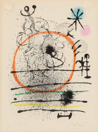 Joan Miró (Spanish, 1893-1983) Herbes d'été, from Haï-ku, 1967 Lithograph in colors 10