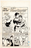 Original Comic Art:Splash Pages, Jack Sparling Tell It to the Marines #5 Splash Page OriginalArt (Toby Press, 1952)....