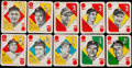 Baseball Cards:Sets, 1951 Topps Blue Backs Baseball Complete Set (52) Plus Two 1951 Berk Ross Cards. ...