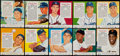 Baseball Cards:Sets, 1955 Red Man Baseball Complete Set (50) Most With Tabs. ...