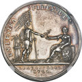 Betts Medals, 1782 Netherlands-America Treaty of Commerce MS62 NGC. Betts-606....