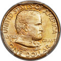 Commemorative Gold, 1922 G$1 Grant Gold Dollar, No Star, MS67 PCGS. CAC....