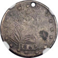 """1861-Dated """"Confederate Dime,"""" -- Holed -- NGC Details. VG"""