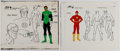 Animation Art:Color Model, Super Friends The Flash and Green Lantern Color Model Group (Hanna-Barbera, 1980).... (Total: 2 )