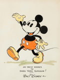 Animation Art:Production Drawing, Mickey Mouse Original Framed Painting (Walt Disney, c. 1930s)...