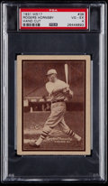 Baseball Cards:Singles (1930-1939), 1931 W517 Rogers Hornsby #38 PSA VG-EX 4....