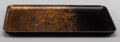 Asian:Japanese, A Japanese Lacquered Tray: Paradise, early 20th century.Marks: (three-character mark). 10-1/4 h x 6-5/8 w inche...