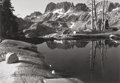 Fine Art - Painting, American:Contemporary   (1950 to present)  , Philip Hyde (American, 1921-2006). The Minarets, Sierra Nevada,California, 1950. Gelatin silver, 1985. 9-3/8 x 13-5/8 i...