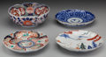 Asian:Japanese, Four Japanese Imari Porcelain Pieces. 8-1/2 inches diameter (21.6cm) (each). ... (Total: 4 Items)