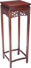 Asian:Chinese, A Chinese Rosewood Side Table, 20th century. 36 inches high x12-1/2 inches wide (91.4 x 31.8 cm). ...