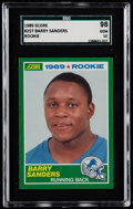 Football Cards:Singles (1970-Now), 1989 Score Barry Sanders #257 SGC 98 Gem 10....