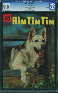 Rin Tin Tin #14 - File Copy (Dell, 1956) CGC VF/NM 9.0 OFF-WHITE TO WHITE pages