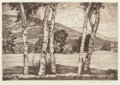 Prints, Luigi Lucioni (American, 1900-1988). Pair of Countryside Landscapes. Etching, each. Ed. 250. Each signed in pencil lower... (Total: 2 Items)