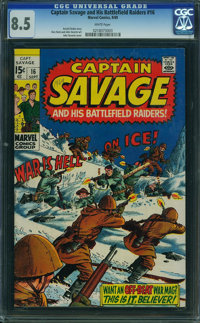Captain Savage and His Leatherneck Raiders #16 (Marvel, 1969) CGC VF+ 8.5 WHITE pages