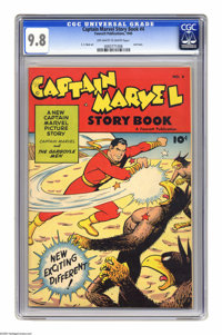 Captain Marvel Story Book #4 (Fawcett, 1949) CGC NM/MT 9.8 Off-white to white pages. Fawcett wasn't afraid to experiment...