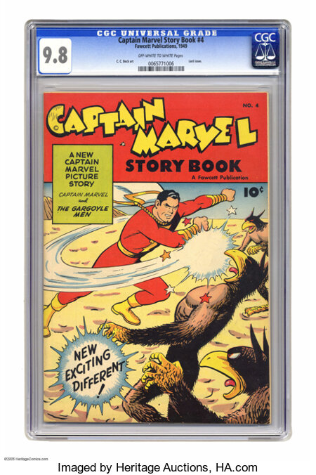 Captain Marvel Story Book #4 (Fawcett, 1949) CGC NM/MT 9.8 Off-white to white pages. Fawcett wasn't afraid to experiment -- ...