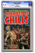 Golden Age (1938-1955):Horror, Chamber of Chills #22 (Harvey, 1954) CGC NM 9.4 Off-white pages.Overstreet doesn't mince words when discussing Chamber of C...