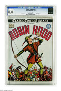 Golden Age (1938-1955):Classics Illustrated, Classic Comics #7 Robin Hood - Original Edition (Elliott, 1942) CGC VF 8.0 Off-white pages. Here's the first printing of the...