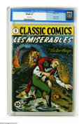 "Golden Age (1938-1955):Classics Illustrated, Classic Comics #9 Les Miserables - Original Edition (Gilberton, 1943) CGC VF/NM 9.0 Off-white pages. This is the ""slick pape..."