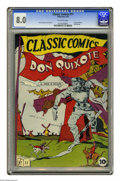 Golden Age (1938-1955):Classics Illustrated, Classic Comics #11 Don Quixote - Original Edition (Gilberton, 1943)CGC VF 8.0 Off-white pages. Louis Zansky drew this adapt...