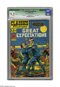 Golden Age (1938-1955):Classics Illustrated, Classics Illustrated #43 Great Expectations - HRN 62 (Gilberton, 1947) CGC Qualified NM- 9.2 Cream to off-white pages. This ...